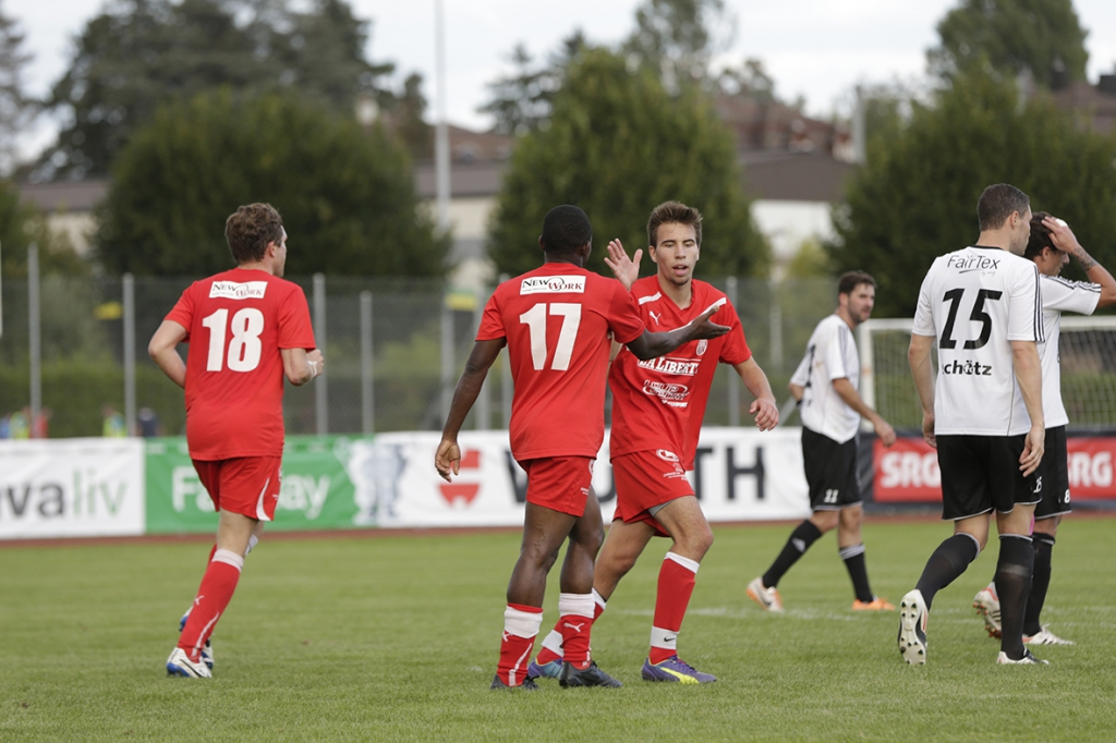 Payerne, le 23 août 2014, Stade Payerne-Schötz.  © Muriel Antille