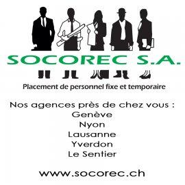 Socorec SA – Agence de placement – Genève, Lausanne, Nyon